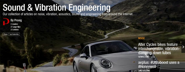 "Read our ""Sound & Vibration Engineering"" magazine on Flipboard"