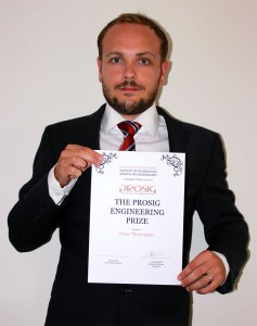 Peter with his Prosig certificate